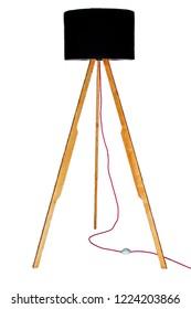 Decorative tripos standing light / FLOOR LAMP / LAMPSHADE isolated on whiteDecorative tripos standing light / FLOOR LAMP / LAMPSHADE isolated on white