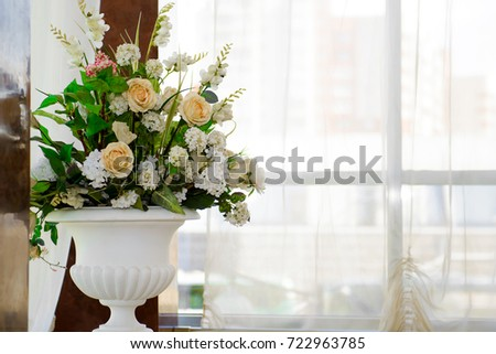 Decorative Vases Flowers By Window Detail Stock Photo Edit Now