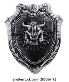 decorative viking shield isolated on white background