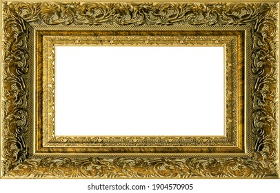 Decorative vintage golden frame border picture