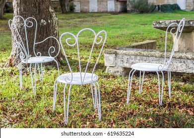Metal Garden Furniture Images Stock Photos Vectors Shutterstock