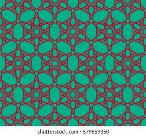 Decorative wallpaper design in shape.Raster copy seamless pattern.