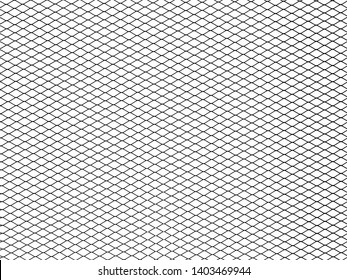 Decorative wire mesh of fence isolated on white background