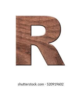 decorative wooden Alphabet, capital letter R