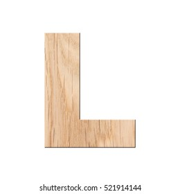 decorative wooden Alphabet, capital letter L