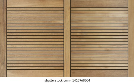 decorative wooden teak design background with black joint gaps