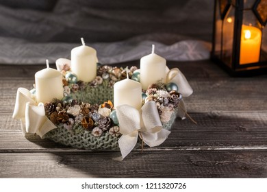 Decorative xmas oornament, with candles