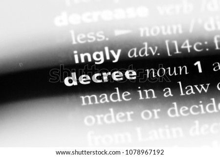 what is the meaning of decree in law