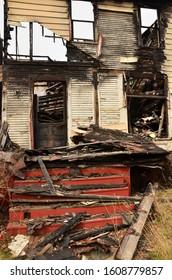 Decrepit buildings marred by vandalism