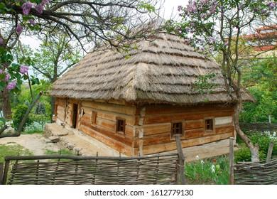 Decrepit, old village house