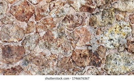 Decrepit Red Stones Wall Texture