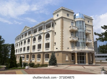 Dederkoy, Tuapse district, Krasnodar region, Russia - 14 July 2013: Residential building of the hotel Green Guy