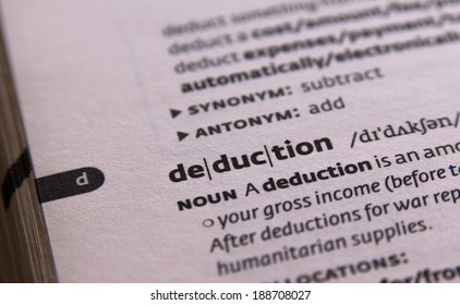 deduction word in open book