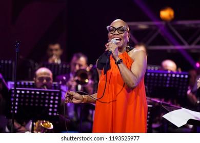 Dee Dee Bridgewater, concert at the Sports and Concert Complex named after Karen Demirchyan․ Yerevan, Armenia. October 14. 2016.