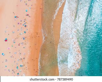 Dee Why Beach Aerial Waves