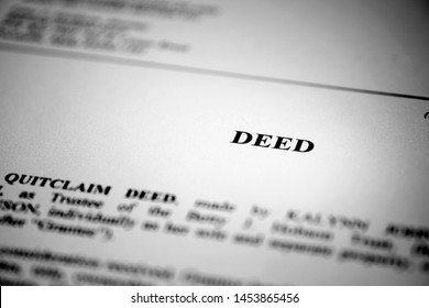 Deed for real estate transfer or transaction contract paper