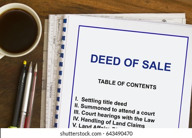 Deed of sale concept- lecture notes on the purchasing of land.