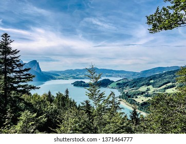 Deep blue Attersee in Austria