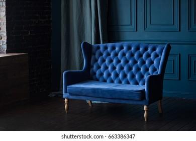 Deep blue interior