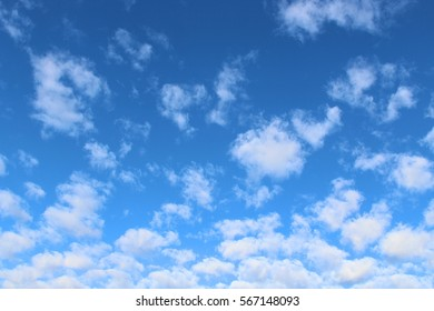 Deep Blue Skies with Light Cloud Pattern