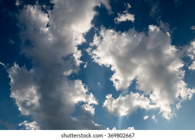 Deep blue sky and clouds