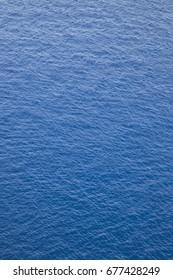Deep blue water surface of lake