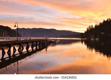 Deep Cove amazing sunrise, North Vancouver, British Columbia