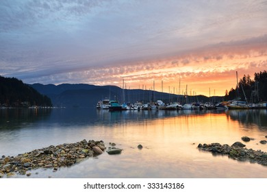 Deep Cove cloudy sunrise, North Vancouver, British Columbia