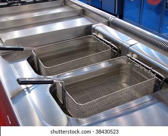 deep fat frying machine. deep fat frying.