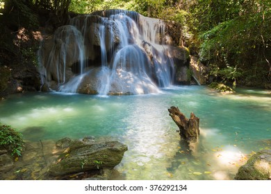 Deep forest tropical jungle waterfalls in national park