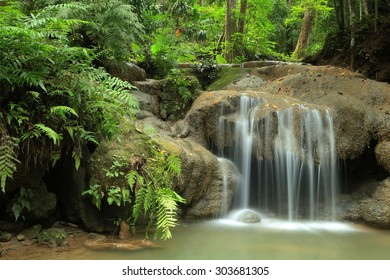 Deep forest waterfall , The waterfall named Huai Rong  Kwang  waterfall in  Phrae province ,  Thailand
