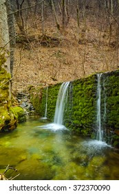 Deep forest Waterfall on Crazy Mary River, Belasitsa Mountain, Bulgaria