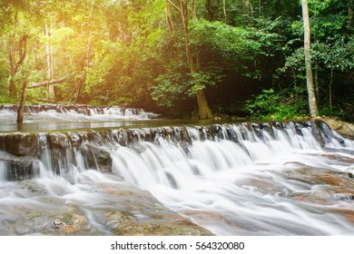 Deep Forest Waterfall in tropical Thailand (waterfall)