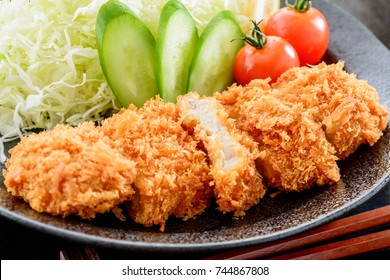 Deep fried breaded pork cutlet