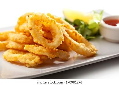 Deep Fried Calamari Rings