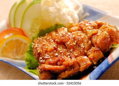 deep fried chicken with sesame