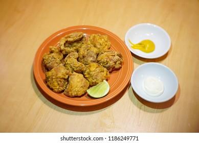 deep fried chicken tight japanese style karaage