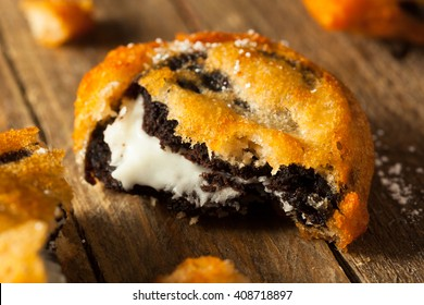 Deep Fried Chocolate Cream Cookies at the Fair