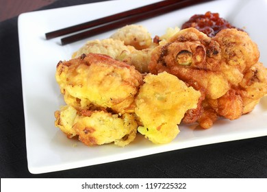 Deep fried in a cornstarch and flour mix, this cauliflower dish is delicious a on its own or served as a main or side for vegetarians in the family