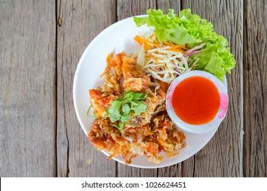 Deep fried Crab with garlic