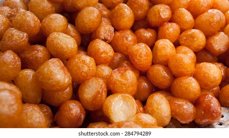 Deep fried dough with honey, cinnamon,  and at times sprinkled with sesame seeds/ Donut Loukoumades Lokma