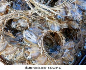 Deep fried dried fish.