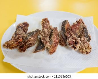 Deep fried eel fish, ate at Matsu, Taiwan