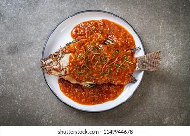 Deep Fried fish with chili sauce