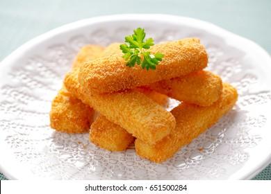 deep fried fish fingers