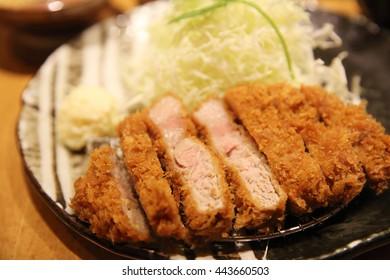 deep fried pork tonkatsu Japanese Tonkatsu