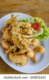 deep fried shrimp - Shutterstock ID 245876143