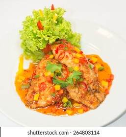 Deep fried Snapper with Sweet Chilles