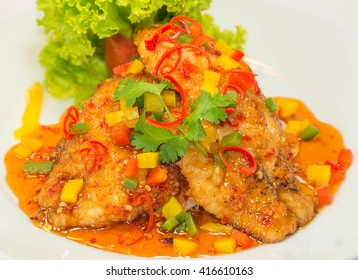 Deep fried Snapper with Sweet Chilli