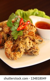 Deep fried Soft Shell Crab garlic and pepper meal